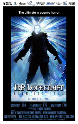 Poster for the 2007 HP Lovecraft Film Festival in Portland, OR