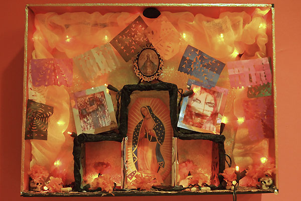 Dia de Los Muertos Altar by Margarita Larios; photo credit: Nicole Bengiveno/The New York Times