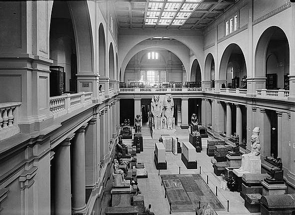 A photo taken by Beau Jackson. The Cairo Museum's copy of the Necronomicon was missing from the museum's library when Beau Jackson went to consult it.